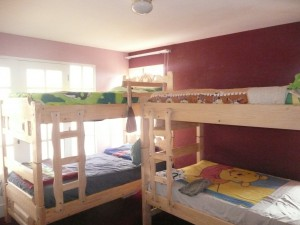 The boys' new bunk beds!