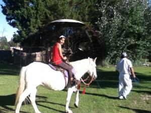 Johana riding like a pro