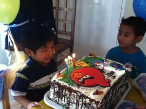 Making his birthday wish